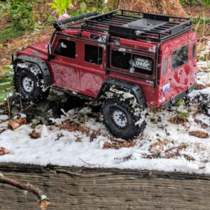 Traxxas TRX-4 Rover in the snow