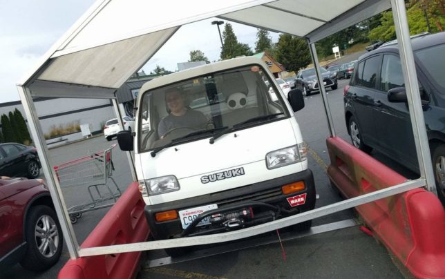 Suzuki Carry in cart corral