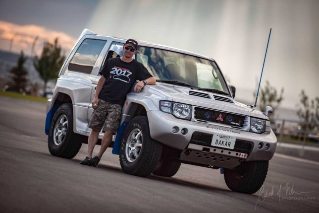 Phil Hansford and his Mitsubishi Pajero Evolution