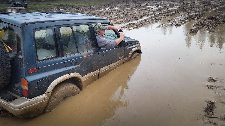 Sidekick in mud