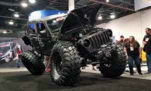 Massive flexed-out Jeep