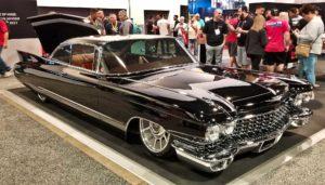 Slammed black Cadillac