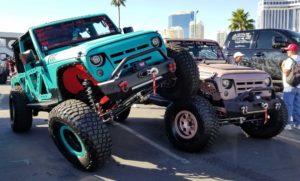 Jeeps at SEMA flexed