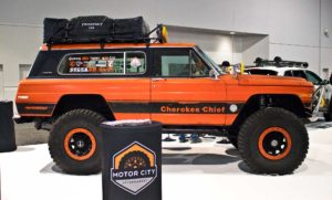 Orange Jeep Cherokee