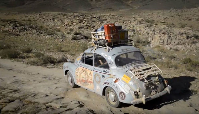 1971 Morris Minor in the Mongol Rally