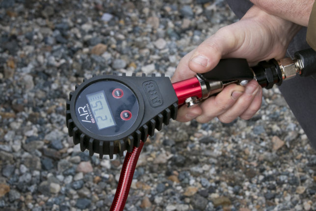 ARB's digital tire inflator makes reading your tire's PSI easy and quick.