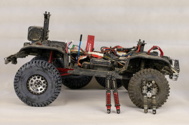 Lifted in the back, stock in the front Traxxas TRX-4