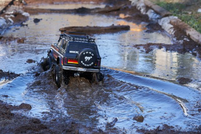 Traxxas TRX-4 Bronco in the mud