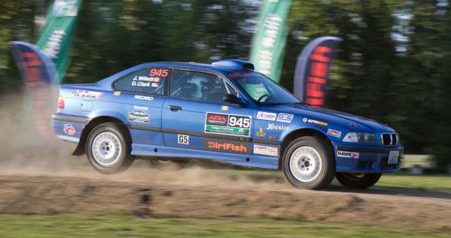 BMW M3 Jump at Oregon Trail Rally