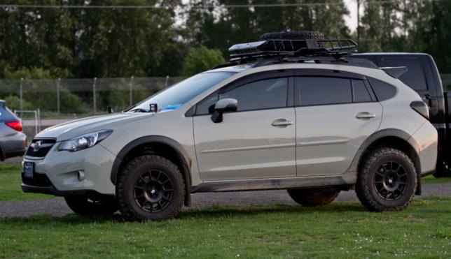 Lifted Subaru Crosstrek at Oregon Trail Rally