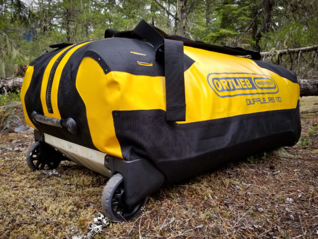 Ortlieb RS 110 duffle bag on ground