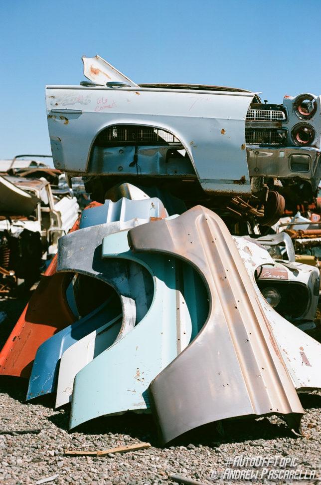 Vintage car fenders