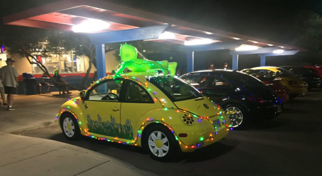 VW Beetles decorated in Roswell, NM.