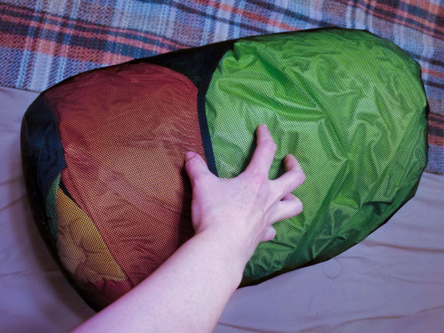 Big Agnes double-wide sleeping bag in sack