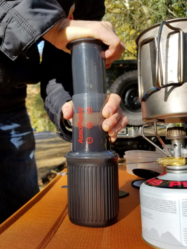 Using the AeroPress Go