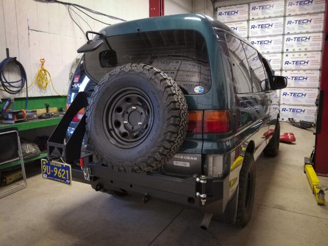 Final mount, rear