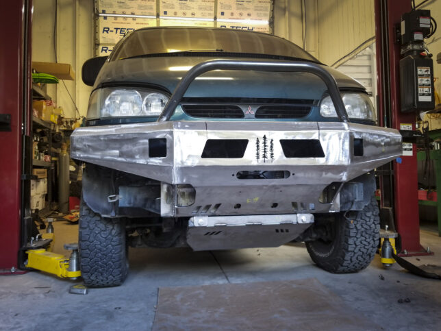 Front Coastal Offroad bumper after finishing, mounting