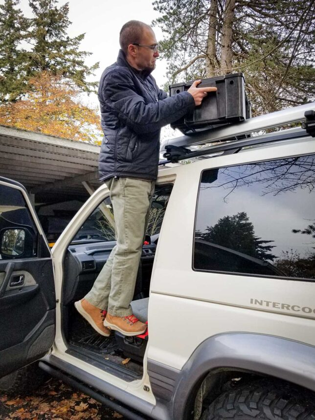 Andy Lilienthal using SUV Doorstep