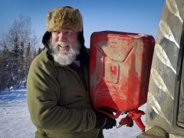 Arctic Circle Alaska jerry can fill-up