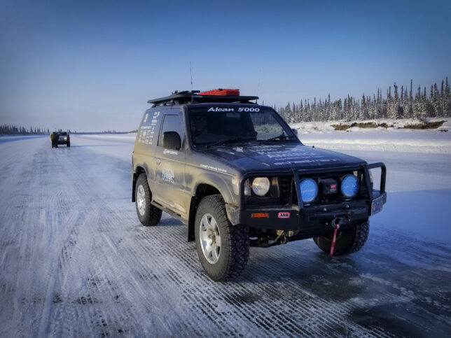Ice Road to Aklavik, NT Canada