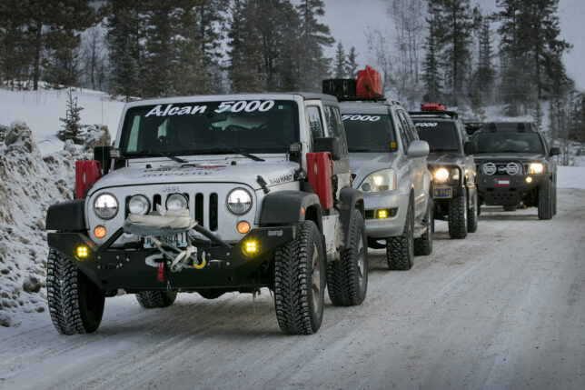Team Anyway 38, team 40, 39 Pajero plus others for TSD