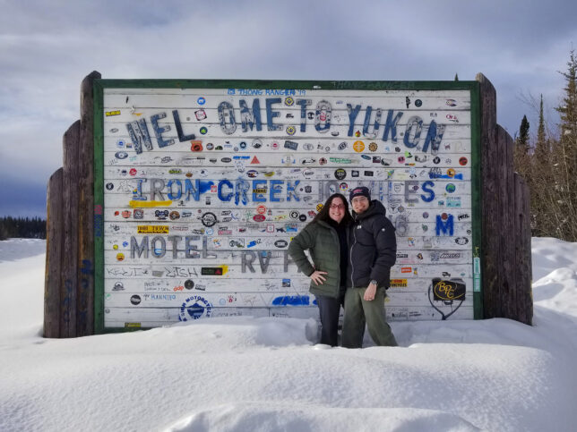Yukon Territories sign, Team Crankshaft Culture