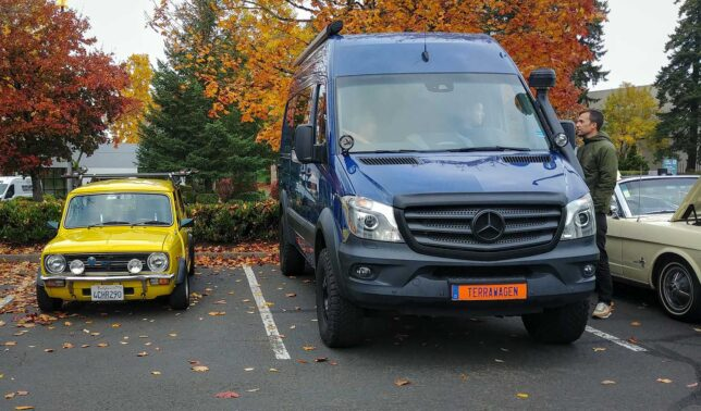 Small car and big van, equal respect