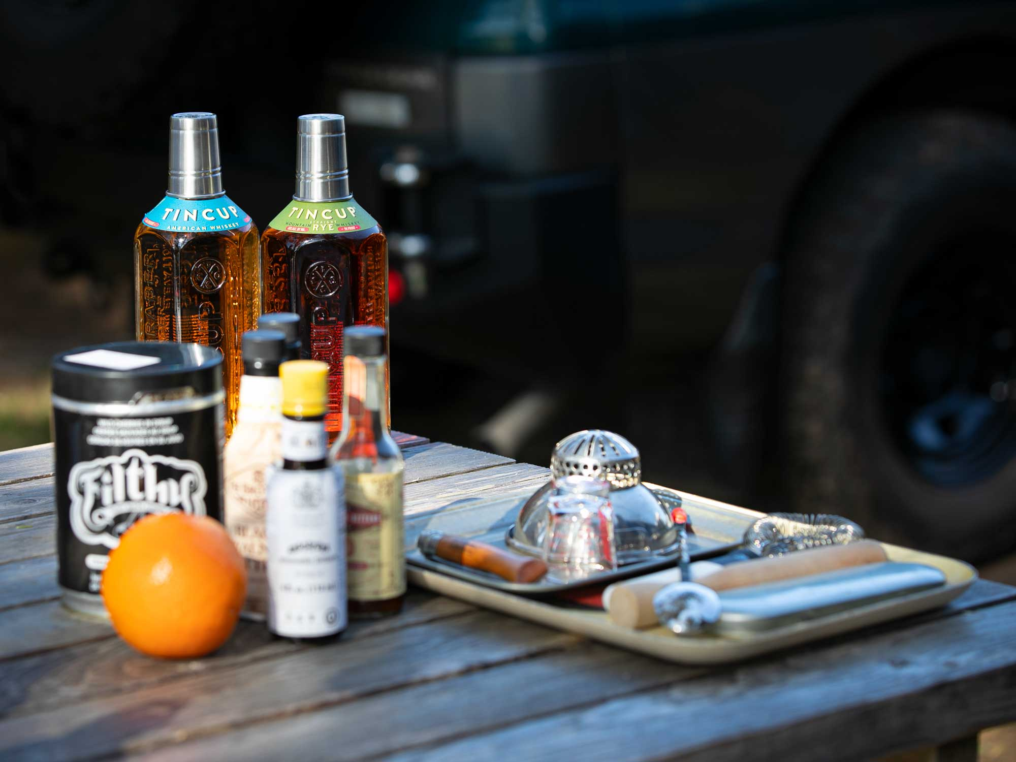 Tin Cup whiskeys and Manhattan cocktails