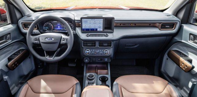 2021 Ford Maverick Lariat interior.