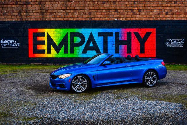 BMW 435i convertible empathy graphic