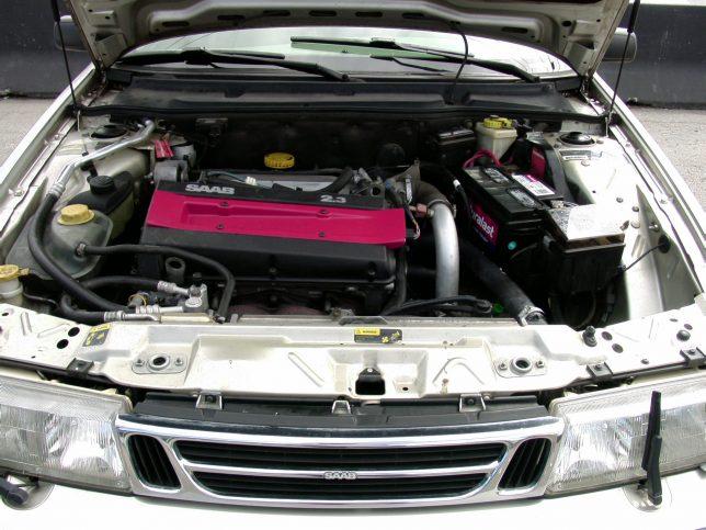 Saab 9000 2.3-liter engine.