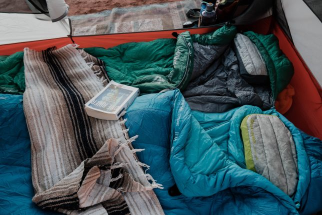 Sea To Summit inflatables pillows in tent